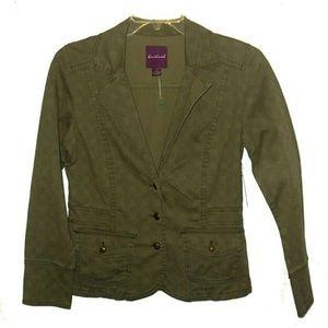 Gloria Vanderbilt Cotton Stretch plaid Jacket